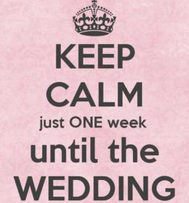 6 Lucruri de evitat cu o săptămână înainte de nuntă