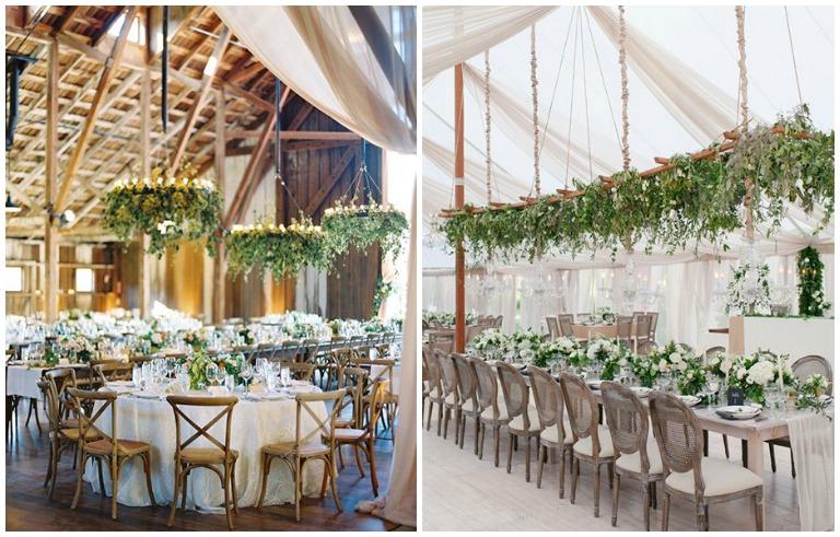 Nuanta nunta 2017 -decor verde